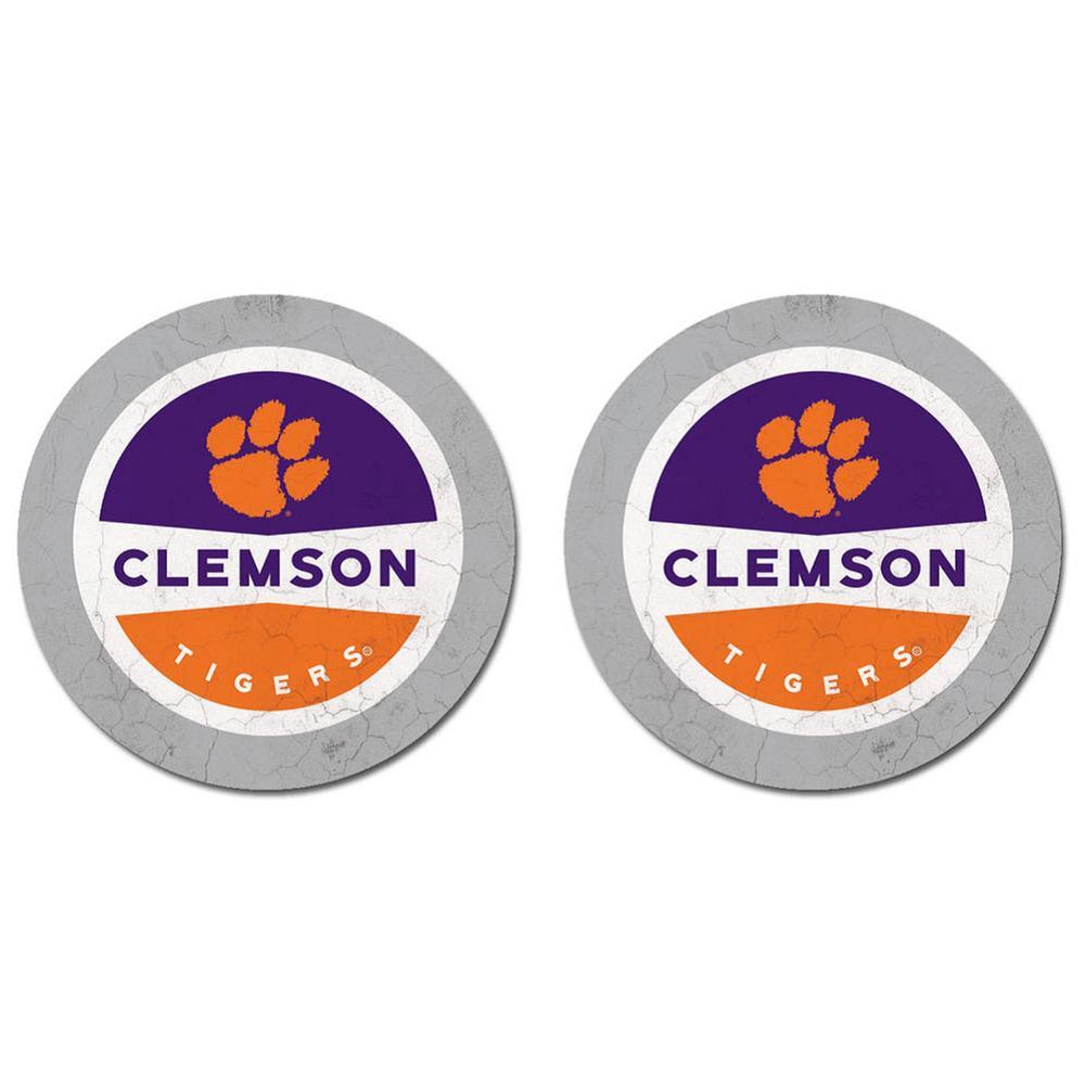 Clemson Legacy Car Coasters