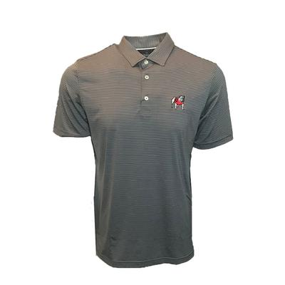 Georgia Johnnie-O Albatross Jersey Pin Stripe Polo