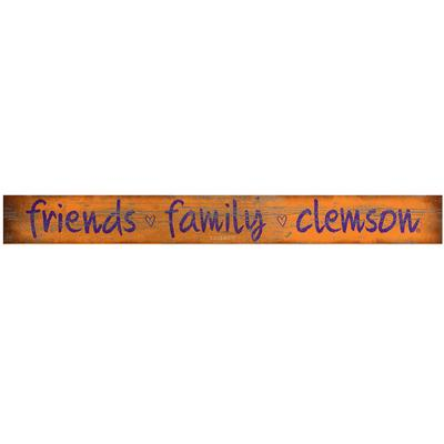 Clemson Friends and Family Doorway Plank Sign