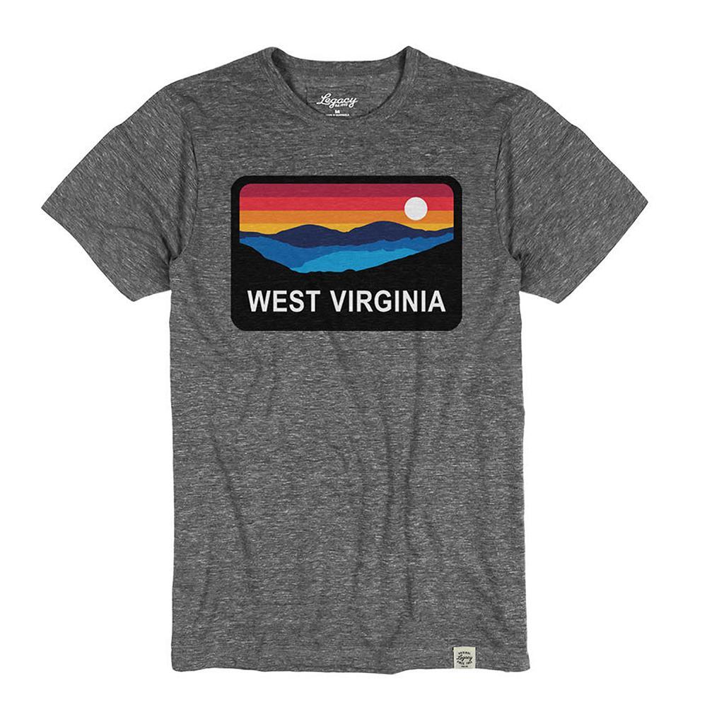 West Virginia Horizon Short Sleeve Triblend Tee