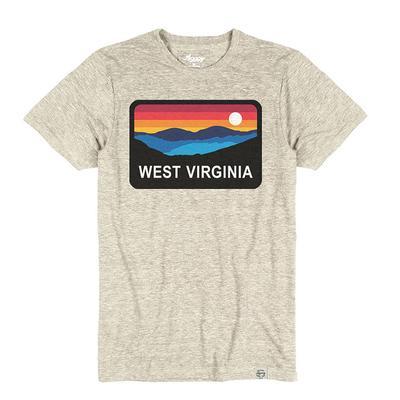 West Virginia Horizon Short Sleeve Triblend Tee OATMEAL