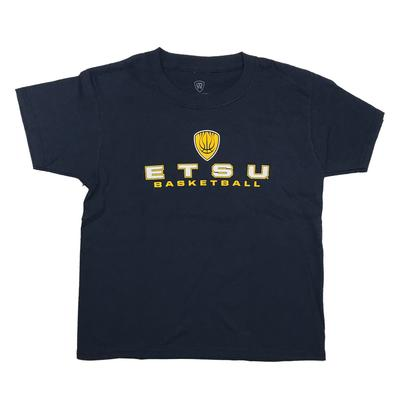 ETSU Youth Basketball Shield T-Shirt