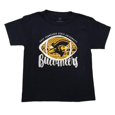 ETSU Youth Aztec Silver Football T-Shirt