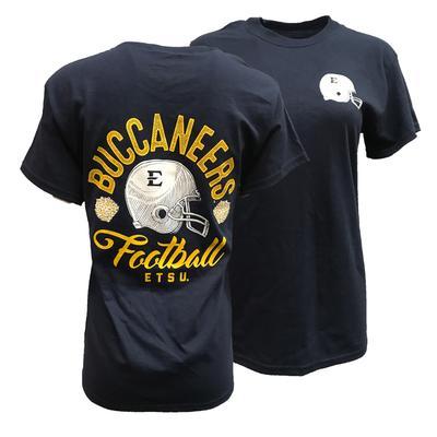 ETSU Drawn Helmet Football T-Shirt
