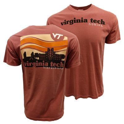 Virginia Tech Comfort Colors Campus Waves T-Shirt