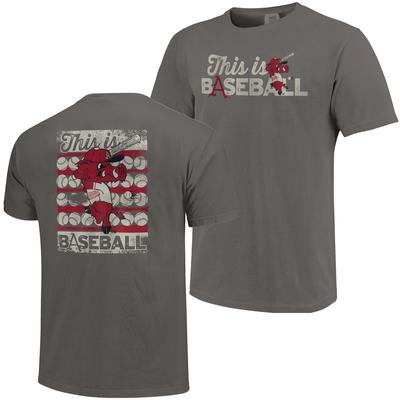 This Is Arkansas Baseball Comfort Colors Ribby Tee