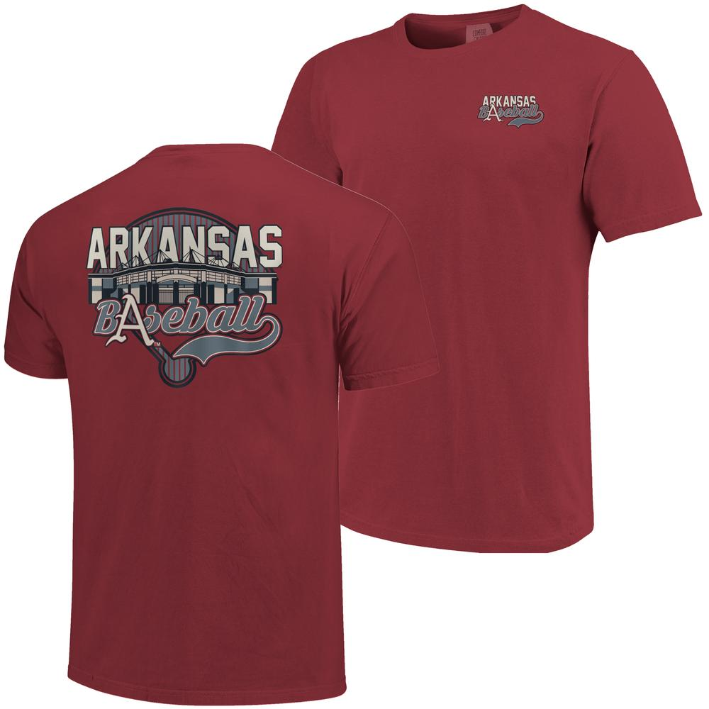 Arkansas Baseball Comfort Colors Stadium Tee