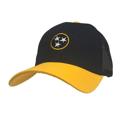 Volunteer Traditions Tri Star Navy and Gold Pro Mesh Trucker Cap