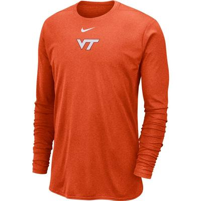 Virginia Tech Nike 360 Dri-FIT Long Sleeve Player Top