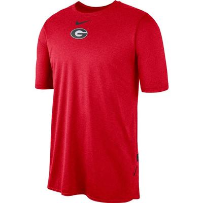 Georgia Nike 360 Dri-FIT Short Sleeve Player Top