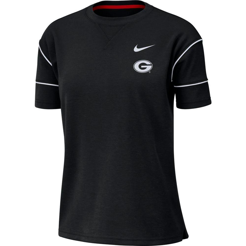 Georgia Nike Women's Breathe Short Sleeve Top