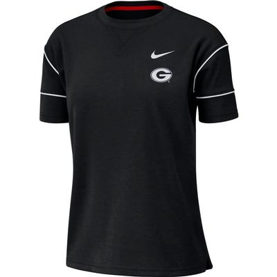 Georgia Nike Women's Breathe Short Sleeve Top