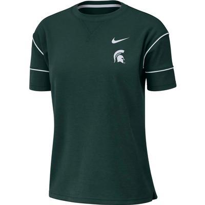 Michigan State Nike Women's Breathe Short Sleeve Top
