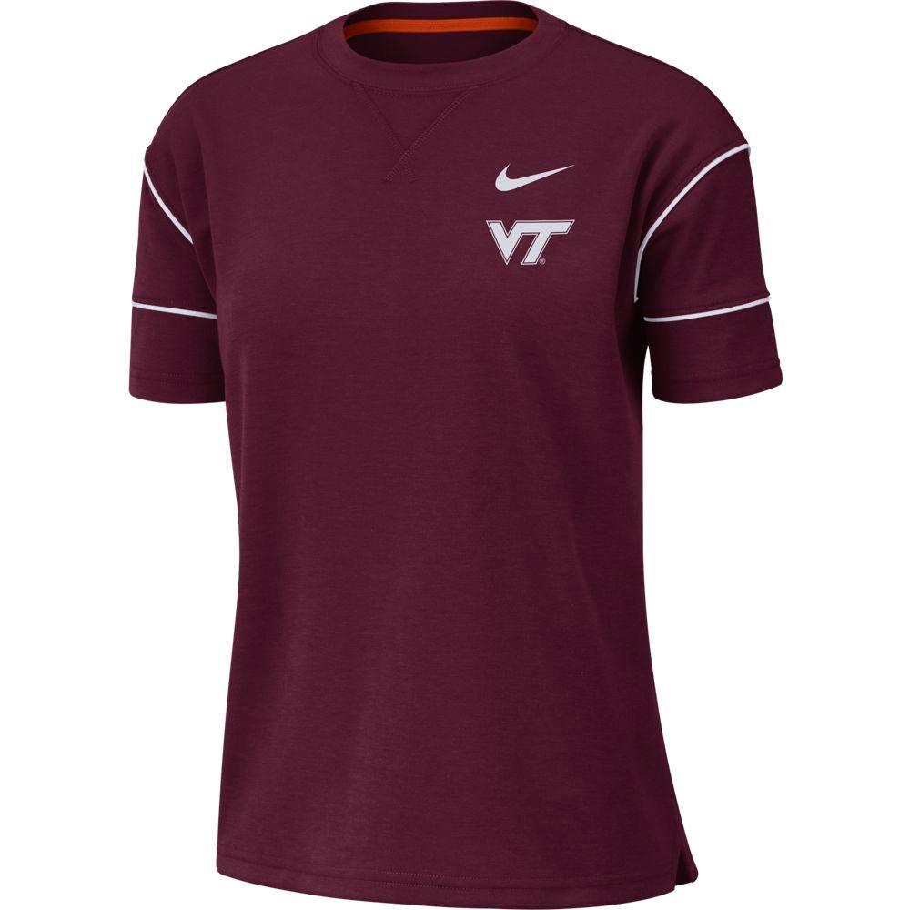 Virginia Tech Nike Women's Breathe Short Sleeve Top