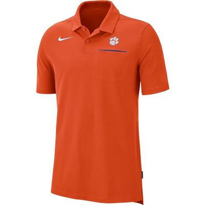 Clemson Nike Dry Coaches Polo ORANGE