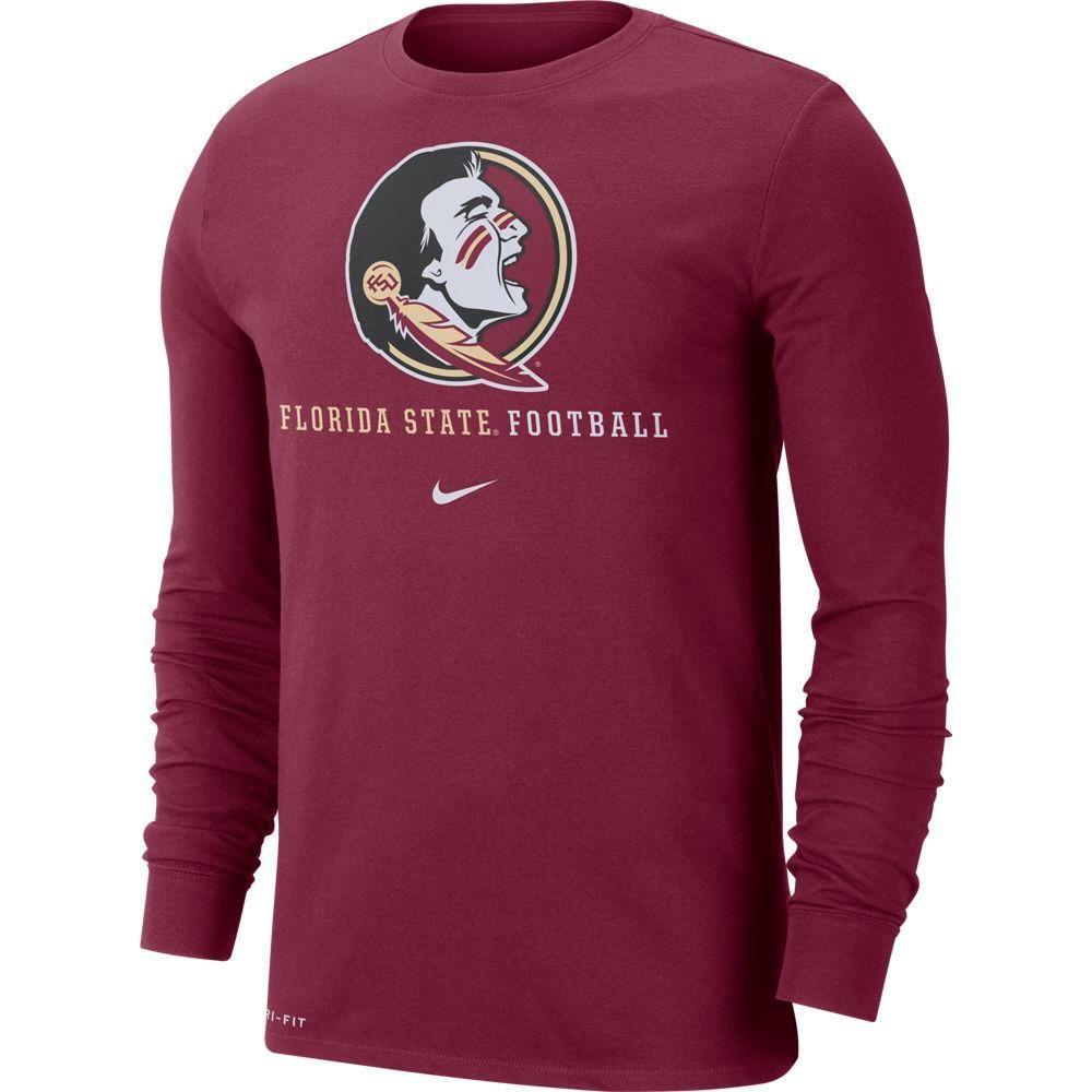 Florida State Nike Dri- Fit Cotton Icon Long Sleeve Football Tee
