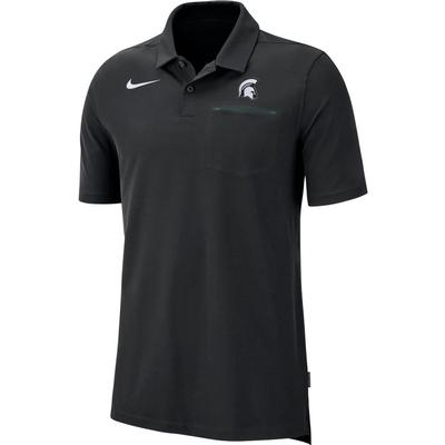 Michigan State Nike Dry Coaches Polo