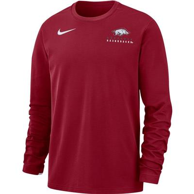 Arkansas Nike Dry Top Football Crew