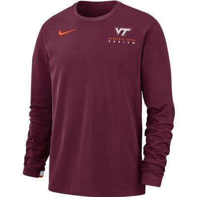 Virginia Tech Nike Dry Top Football Crew