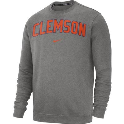 Clemson Nike Fleece Club Crew Sweater