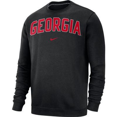 Georgia Nike Fleece Club Crew Sweater