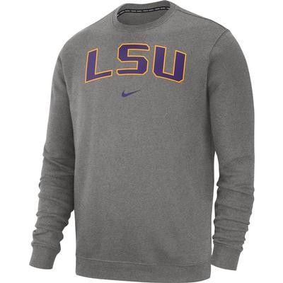 LSU Nike Fleece Club Crew Sweater