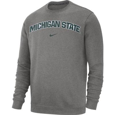 Michigan State Nike Fleece Club Crew Sweater