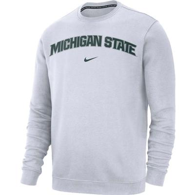 Michigan State Nike Fleece Club Crew Sweatshirt