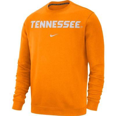 Tennessee Nike Fleece Club Crew Sweater