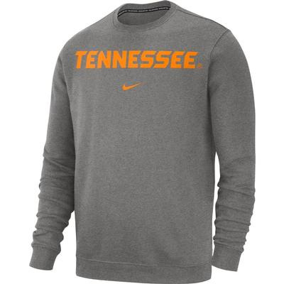Tennessee Nike Fleece Club Crew Sweater