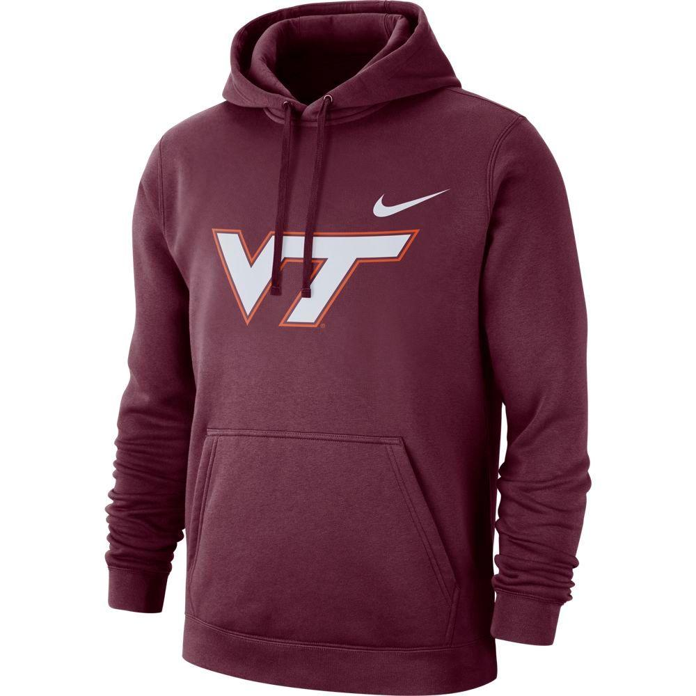 Virginia Tech Nike Fleece Club Pullover Hoodie