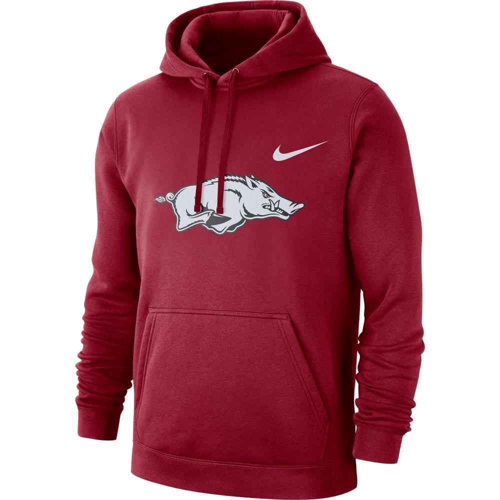 Arkansas Nike Fleece Club Pullover Hoodie
