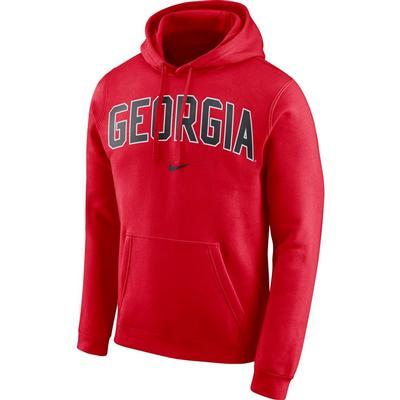 Georgia Nike Fleece Club Pullover Hoodie