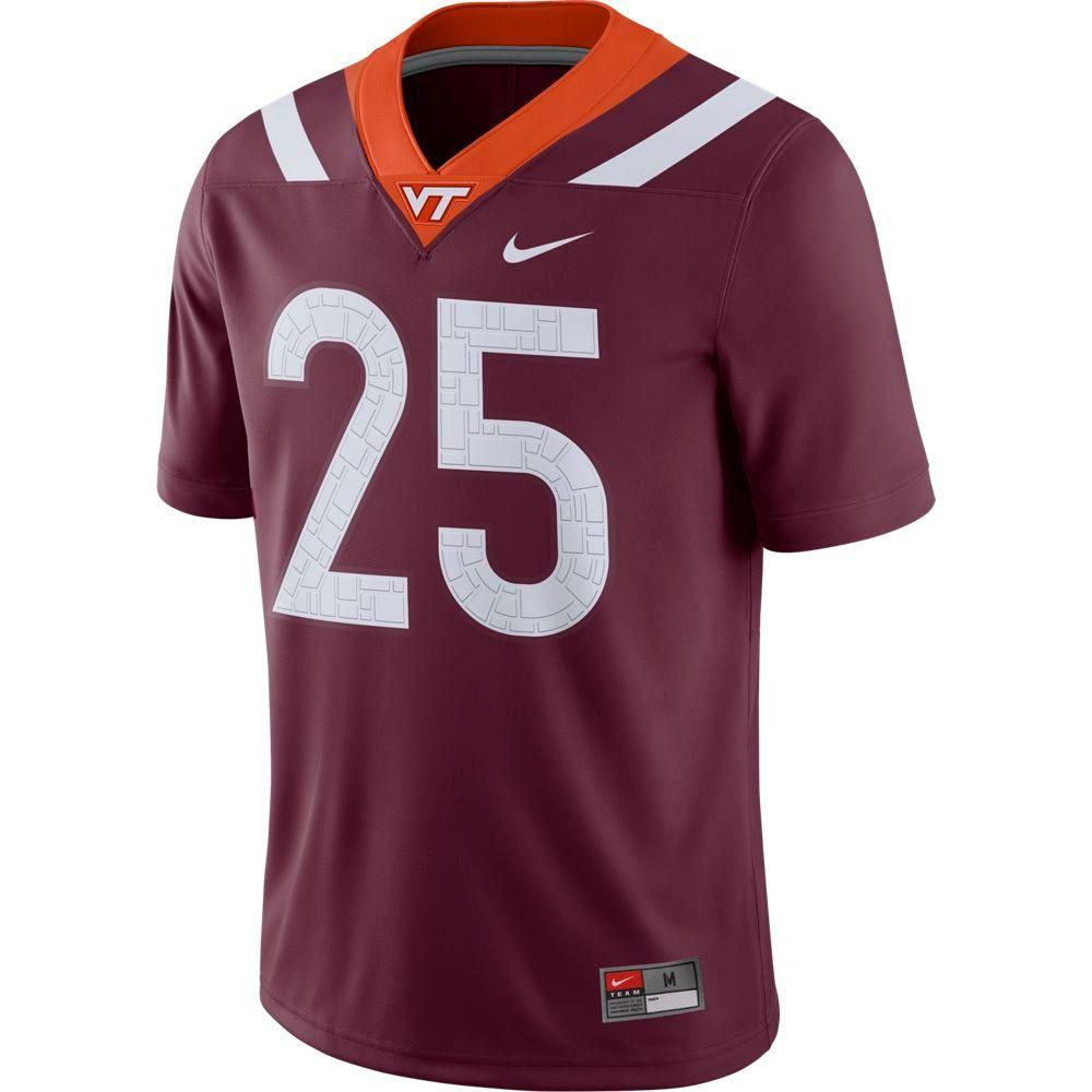 Virginia Tech Nike # 25 Jersey