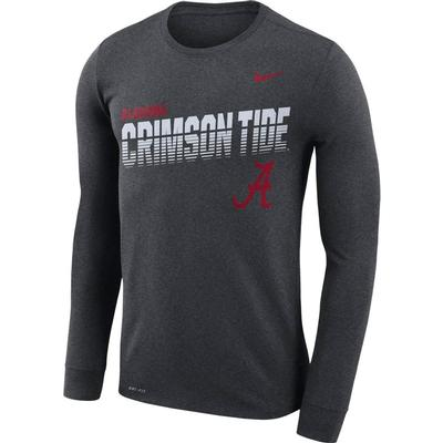 Alabama Nike Legend Long Sleeve Sideline Tee