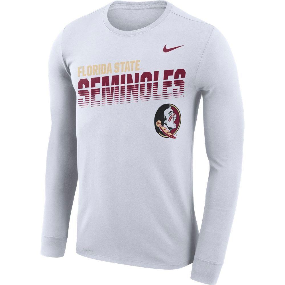 Florida State Nike Legend Long Sleeve Sideline Tee