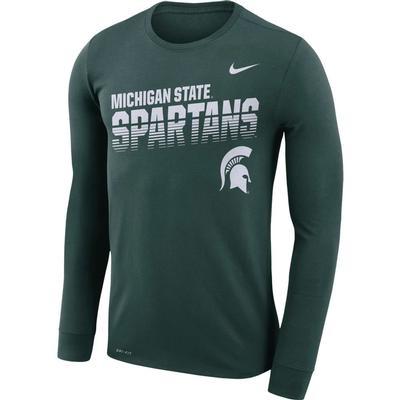 Michigan State Nike Legend Long Sleeve Sideline Tee
