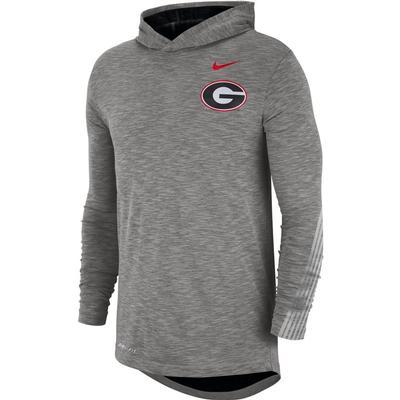 Georgia Nike Dri-FIT Cotton Long Sleeve Sideline Hoodie Tee