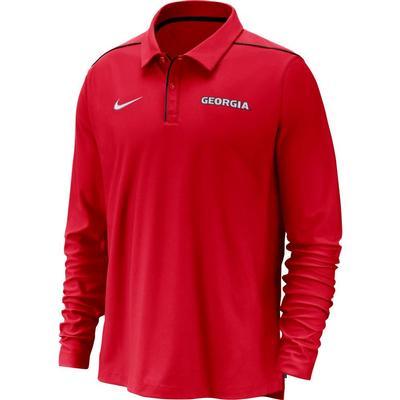 Georgia Nike Dri-FIT Long Sleeve Polo