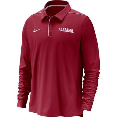 Alabama Nike Dri-FIT Long Sleeve Polo