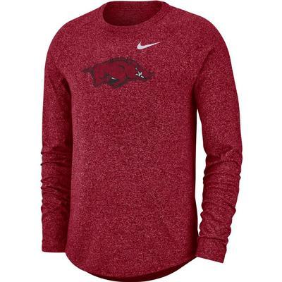 Arkansas Nike Marled Long Sleeve Tee