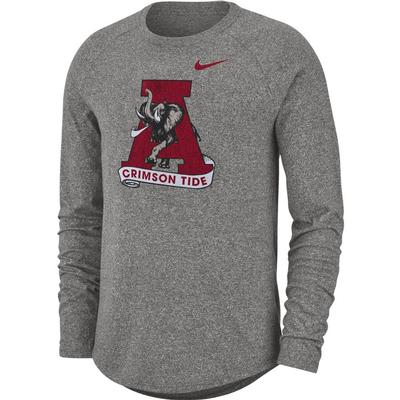 Alabama Nike Marled Vault Logo Long Sleeve Tee