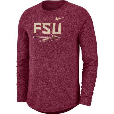 Florida State Nike Marled Long Sleeve Tee