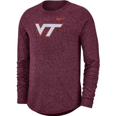 Virginia Tech Nike Marled Long Sleeve Tee