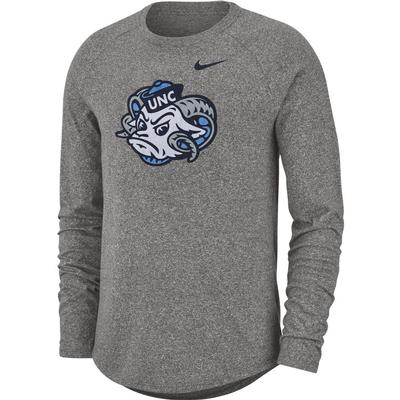 North Carolina Nike Marled Vault Logo Long Sleeve Tee