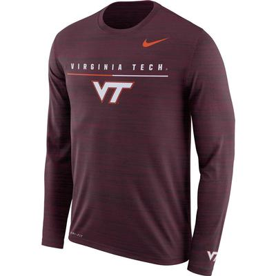 Virginia Tech Nike Dri-FIT Velocity Legend Long Sleeve Travel Tee