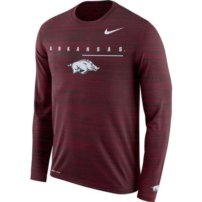 Arkansas Nike Dri-FIT Velocity Legend Long Sleeve Travel Tee