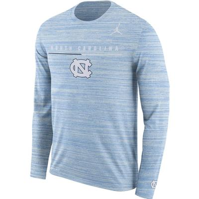 UNC Nike Dri-FIT Velocity Legend Long Sleeve Travel Tee