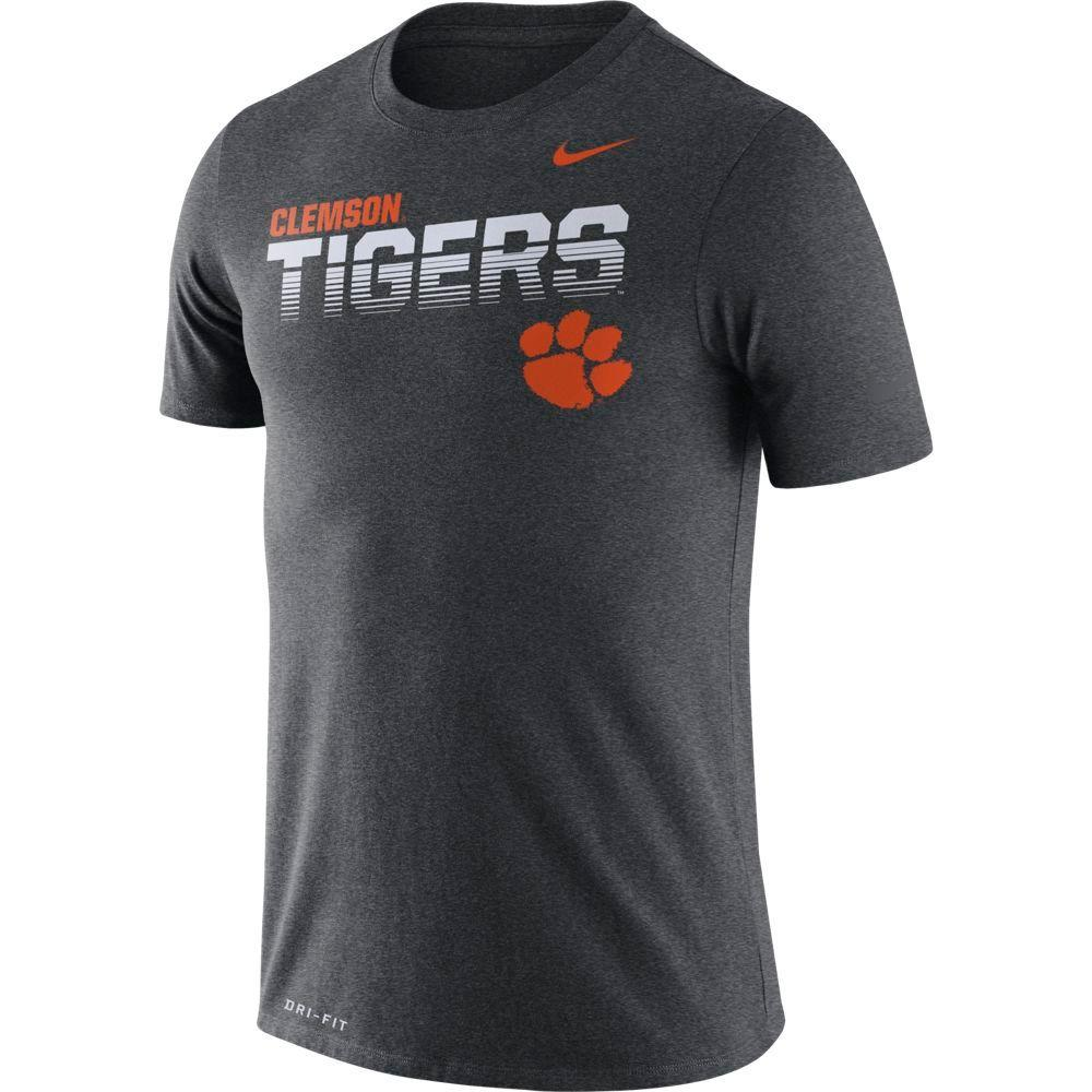 Clemson Nike Legend Sideline Short Sleeve Shirt