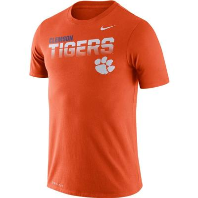 Clemson Nike Legend Sideline Short Sleeve Shirt ORANGE